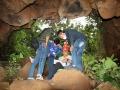 Cave entrance Sigit and participants